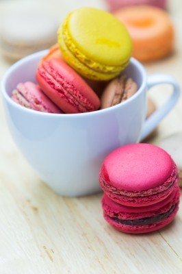 Macarons. They taste EVEN BETTER than they look. And, yes, this is a stock photo. None of our macarons stayed around long enough to get photographed.