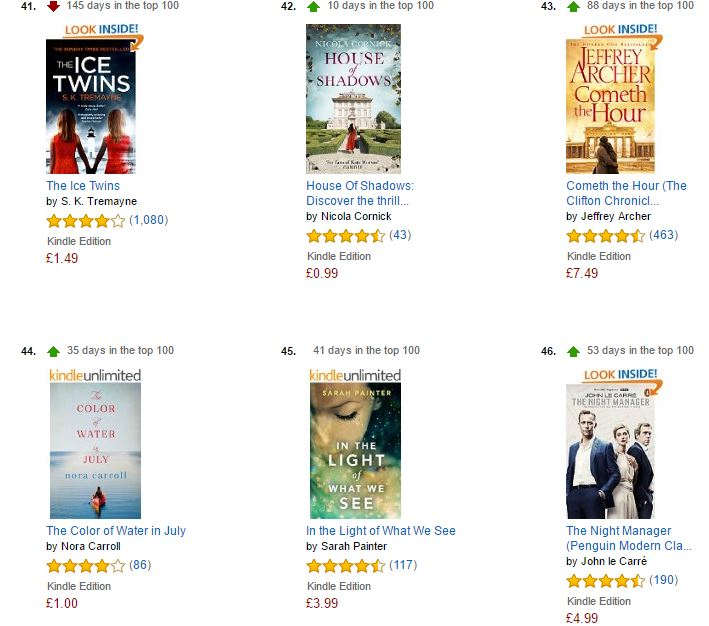 In The Light of What We See - Amazon Kindle Top 100