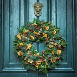 Sadly, not my wreath. Or my door.